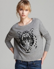 Autumn Cashmere Sweater - Leopard Intarsia at Bloomingdales