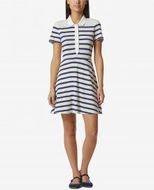 Avec Les Filles Cotton Striped Polo-Style Dress at Macys