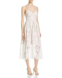 Avery G Lace Tea-Length Dress in Ivory at Bloomingdales