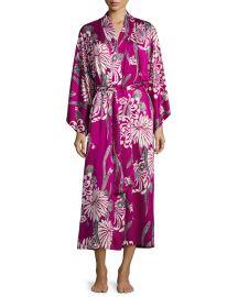 Aziome Floral-Print Long Robe at Bergdorf Goodman