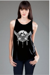 Aztec Eagle High Neck Flowy Tank at Royal Rabbit