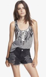 Aztec Sequin Embellished Tank at Express
