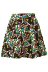 Aztec Skater Skirt at Topshop