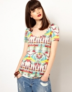 Aztec print tee by Eleven Paris at Asos