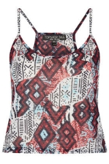 Aztec printed cami at Topshop