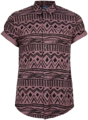 Aztec printed shirt at Topman