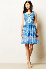 Azure Lace Dress at Anthropologie