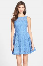BB Dakota  Renley  Lace Fit   Flare Dress  Nordstrom Exclusive at Nordstrom