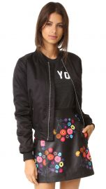 BB Dakota Atwood Satin Bomber Jacket in Black at Shopbop