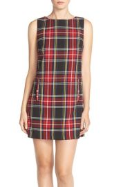 BB Dakota Harlow Woven Plaid Shift Dress at Nordstrom
