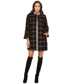 BB Dakota Hewes Plaid Coat with Bell Sleeves at Zappos