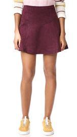 BB Dakota Jack by BB Dakota Hal Faux Suede Scuba Skirt at Shopbop