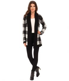 BB Dakota Jalen Buffalo Plaid Cardigan Oatmeal at 6pm