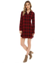 BB Dakota Kendrick Plaid Printed Rayon Dress at Zapposcom at Zappos
