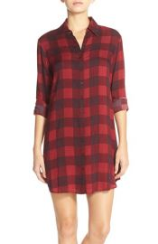 BB Dakota Kendrick Woven Gingham Shirtdress at Nordstrom
