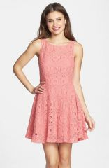BB Dakota and39Renleyand39 Lace Fit andamp Flare Dress at Nordstrom