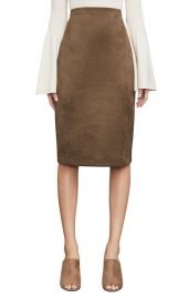 BCBGMAXAZRIA   Lyric Faux Suede Pencil Skirt   Mocha at Nordstrom Rack