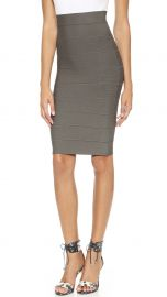 BCBGMAXAZRIA Leger Pencil Skirt dark fatigue at Shopbop