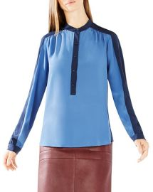 BCBGMAXAZRIA Marteena Color Block Blouse at Bloomingdales