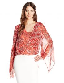 BCBGMAXAZRIA Women s Nickelette Top at Amazon