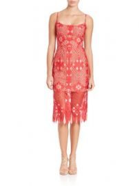 BCBGMAXAZRIA - Alese Asymmetrical-Geometric Lace Dress at Saks Off 5th
