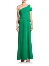 BCBGMAXAZRIA - Cut-Out One-Shoulder Gown in Malachite at Saks Fifth Avenue
