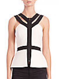 BCBGMAXAZRIA - Jenson Peplum Top at Saks Off 5th