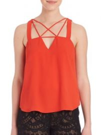 BCBGMAXAZRIA - Raelyn Cross Front Tank at Saks Off 5th