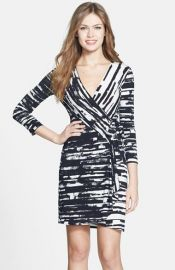 BCBGMAXAZRIA Adele Print Matte Jersey Wrap Dress at Nordstrom