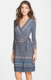 BCBGMAXAZRIA Adele Print Wrap Dress at Nordstrom