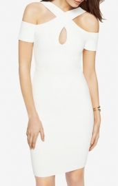 BCBGMAXAZRIA Alley Cold-Shoulder Halter Dress at Bcbg