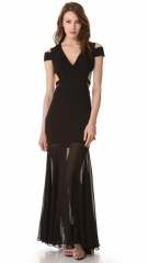 BCBGMAXAZRIA Ava Cutout Gown at Shopbop