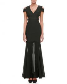 BCBGMAXAZRIA Ava Cutout Mermaid Gown at Neiman Marcus