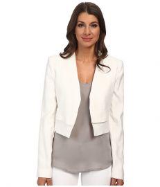 BCBGMAXAZRIA Corey Open Front Jacket Off White at Zappos