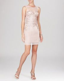 BCBGMAXAZRIA Dress - Abigail Sleeveless Illusion Neck Sequin Lace at Bloomingdales
