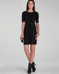 BCBGMAXAZRIA Dress - Isadora Embellished Block at Bloomingdales