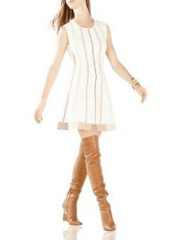 BCBGMAXAZRIA Dyanna Knit Jacquard A-Line Dress at Bloomingdales