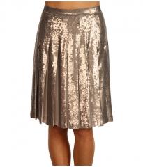 BCBGMAXAZRIA Edna Sequin Skirt Pumice Wash at 6pm