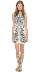 BCBGMAXAZRIA Ellena Printed Dress at Shopbop