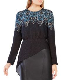 BCBGMAXAZRIA Eugenie Printed Top at Bloomingdales