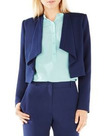 BCBGMAXAZRIA Franco Draped Collar Jacket at Bloomingdales