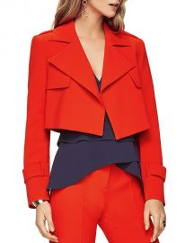 BCBGMAXAZRIA Gerald Cropped Jacket red at Bloomingdales