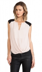 BCBGMAXAZRIA Giselle Color Block Tank in Bare Pink  REVOLVE at Revolve