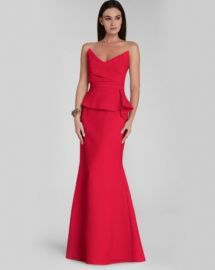 BCBGMAXAZRIA Gown - Stand Bust Peplum Gracie at Bloomingdales