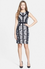 BCBGMAXAZRIA Holly Print Stretch Crepe Sheath Dress at Nordstrom