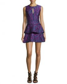 BCBGMAXAZRIA Joylynn Fit-and-Flare Dress Multi Colors at Neiman Marcus