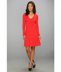 BCBGMAXAZRIA Keila Cable Knit Dress Red Berry at 6pm