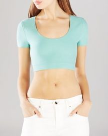 BCBGMAXAZRIA Maressa Crop Top at Bloomingdales