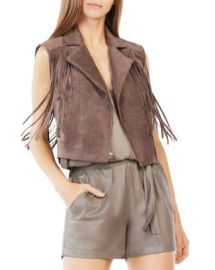 BCBGMAXAZRIA Mike Faux Suede Fringe Vest at Bloomingdales
