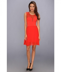 BCBGMAXAZRIA Miranda Knit Evening Dress BT Red at Zappos